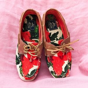 Milly for Sperry Top-Sider Floral Boat Shoes